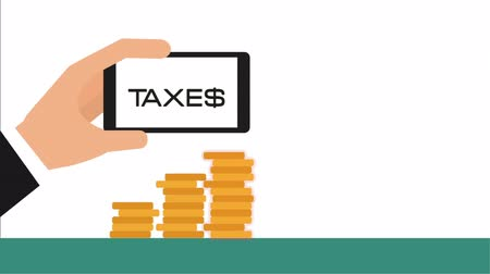 impostos : taxes concept design, Video Animation Stock Footage