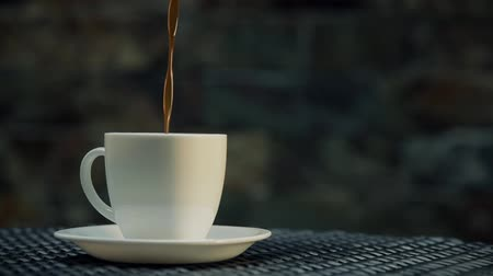 copinho : Serving coffe on white cup Stock Footage