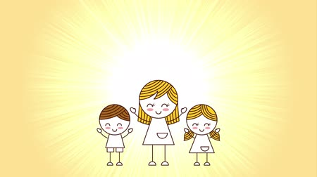 zaproszenie : happy mother day , video animation