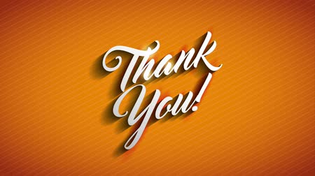 sayesinde : Thank You message over vivid orange background