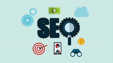 seo : search engine optimization , video animation Stock Footage