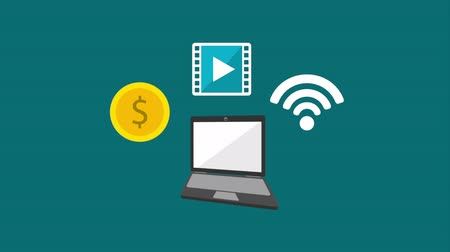 cash free : Technology icon design, Video Animation Stock Footage
