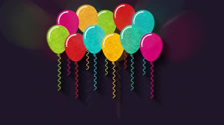 doğum günü : balloons party design, Video Animation Stok Video