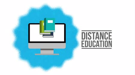 mesafe : distance education design, Video Animation Stok Video