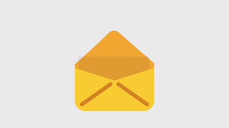 postabélyegző : email message envelope with at icons animation design