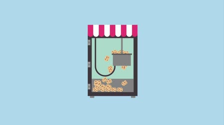 pop corn : machine de magasin de nourriture de cinéma faisant le pop-corn