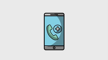 lékař : smartphone medical doctor online telephone helpline animation