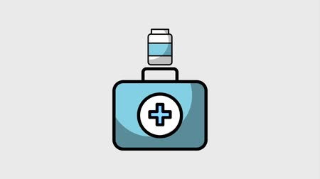first aid kit : kit first aid medicine pill capsule pharmacy animation