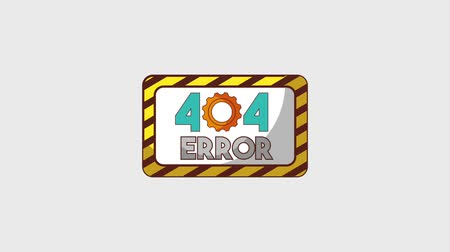 errado : 404 error page sign board advertising animation hd Stock Footage
