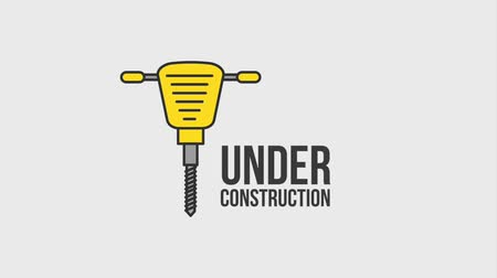 прерыватель : under construction website jackhammer tool support animation hd