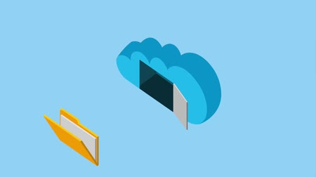 fazer upload : cloud storage folder file document data animation hd