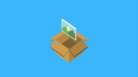 clipe de papel : cardboard box storage photo checkmark animation hd