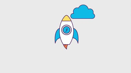 planos : rocket startup launching success animation hd