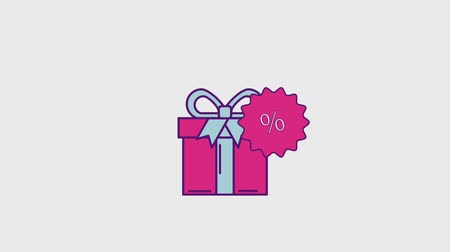 pricetag : gift box surprise sticker discount cyber monday animation hd