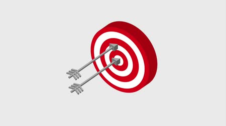 targeting : target three arrows startup business concept animation