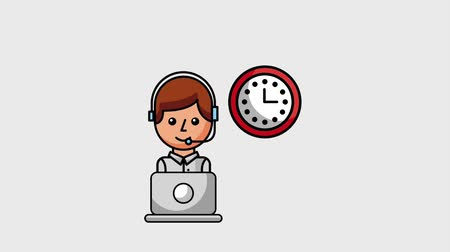mevcut : call center operator customer service 24 hrs support animation hd