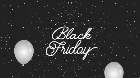 markalaşma : black friday lettering on dots dark background animation hd