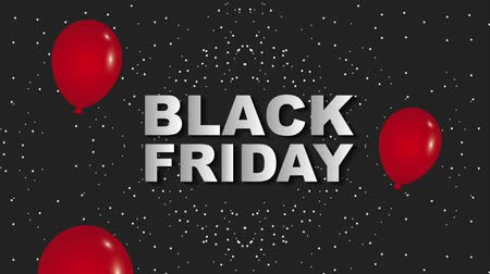 çıkartmalar : red falling balloons black friday dark dotted background animation hd