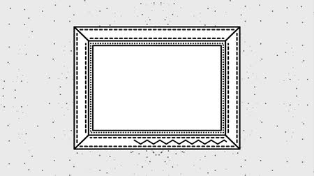 paper clip : grunge style frame square zig zag lines animation hd