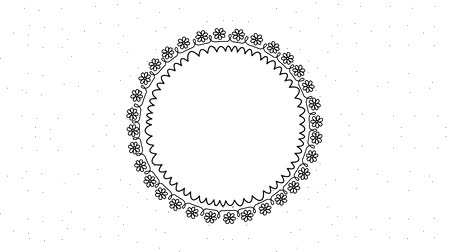 koszorú : round wreath flowers frame decoration animation hd