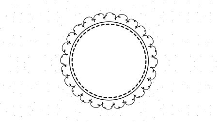 convite : floral frame circle label decoration animation hd