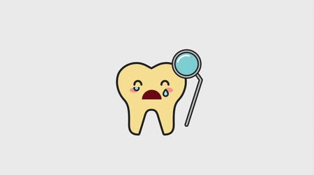 yenirce : sick tooth crying with hygiene tool animation hd