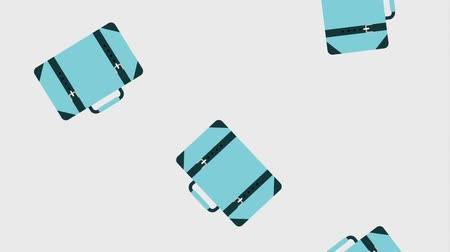 zíper : falling travel suitcases with straps equipment animation hd
