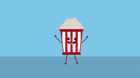 seau : kawaii cartoon food pop corn animation hd