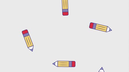 ołówek : falling school pencils creativity education animation hd