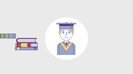 grãos : graduate man education books certificate school animation hd