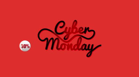 plakát : red bakcground sale with discounts cyber monday animation hd