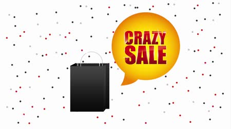 comprador : black shopping bag crazy sale bubble animation hd