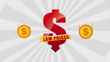 цент : dollar low prices falling coins money animation hd