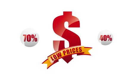 cupom : dollar discount offer low prices banner animation hd