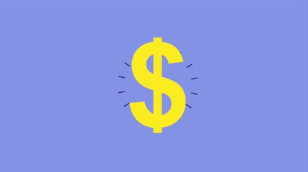 dolar : dollar money symbol bright on purple background Dostupné videozáznamy