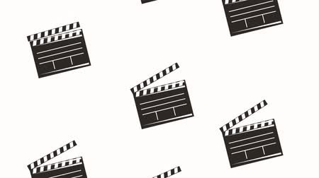 video reel : movie film clapper board retro motion animation hd Stock Footage