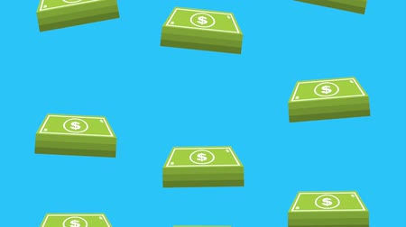 banknotlar : money dollar banknote falling background animation hd