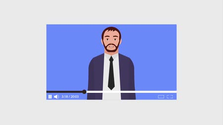 sharing : businessman website video content animation hd Stock Footage