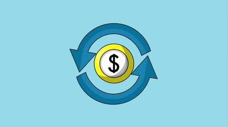 prestations : change dollar euro dollar symbole animation hd