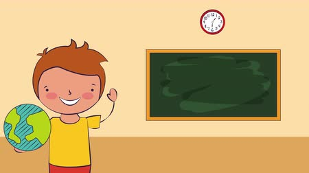 okula geri : ,back to school 4k video animation