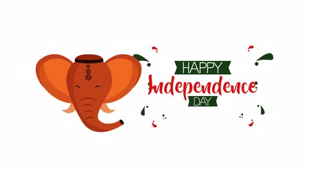 ganesha : india independence day celebration ,4k video animation