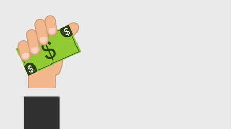 bankomat : hand holding money bill icons animation design