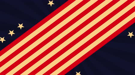 dag van de arbeid : labor day card with USA flag,4k video animation