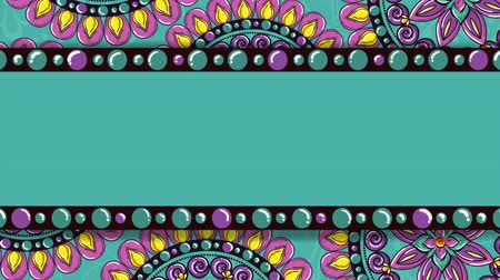 round ornament : ethnic mandalas frame boho style pattern, hd video animation