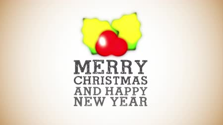 도장 : merry christmas and happy new year animation , hd video