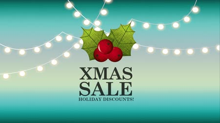 merry christmas sale animation with cherries , hd video Wideo