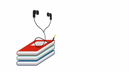 literatura : electronic books elearning technology , hd video animation