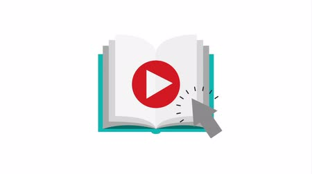 e book : electronic book elearning technology , hd video animation