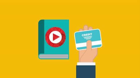ebook : electronic book elearning technology , hd video animation