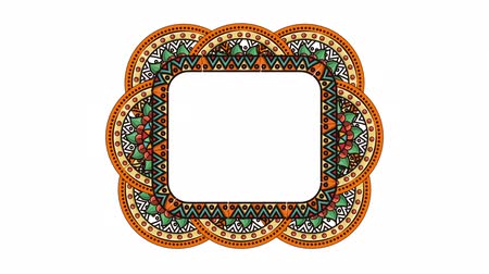 ethnic mandala boho style square frame ,hd video animation Wideo